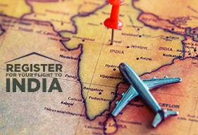 Flight to India registration